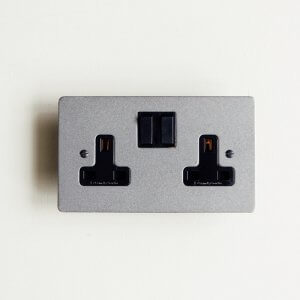13 Amp Double Switched Socket - Patine