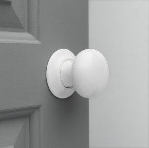 Porcelain Door Knobs (Pair) - White