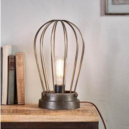 Cage Light With Antique Finish
