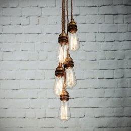Industrial Cluster Pendant Light
