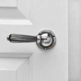Reeded Lever Handle (Pair) - Aged Nickel