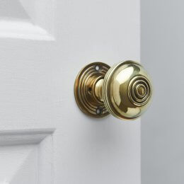 Regency-Style Door Knobs (Pair) - Aged Brass - SAVE £14