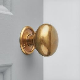 Cottage Bun Door Knobs (Pair) - Antique Brass