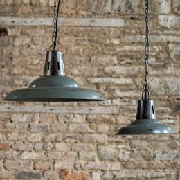 Hanging Vintage Pendant - Distressed Grey