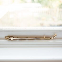 Bulb End Casement Stay - Brass