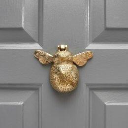 Bumble Bee Door Knocker - Brass