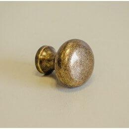 Button Cabinet Knob - Antique Brass save 25%