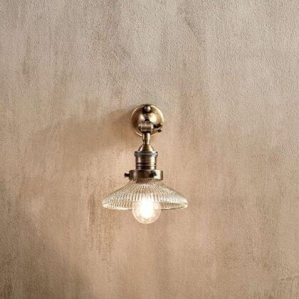 Ribbed Glass Wall Light