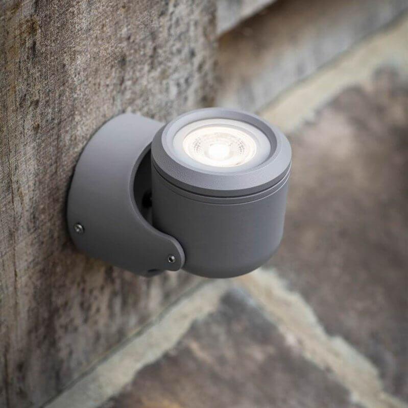 Angled Steel Single Wall Light - save 15%