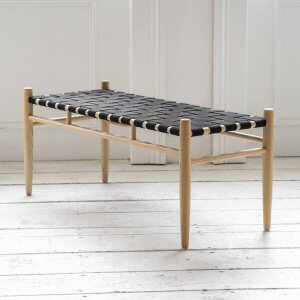Woven Wooden Bench