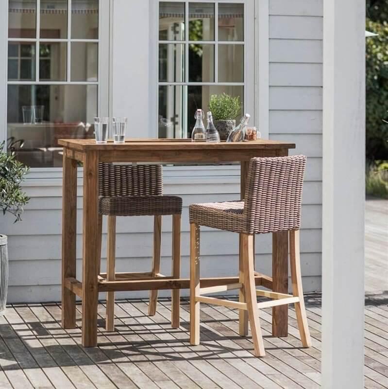 Reclaimed Teak Drinks  / Planter Table - Small