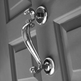 Doctor's Door Knocker - Polished Chrome