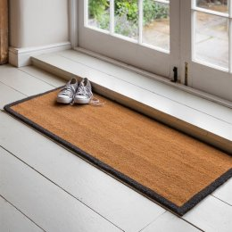 Double Door Mat with Grey Border