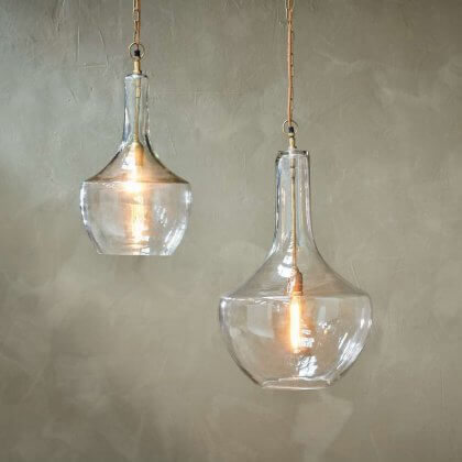 Recycled Glass Pendant Light
