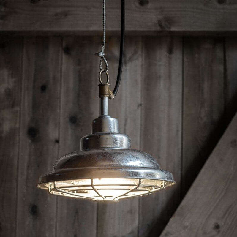 St Ives Galvanised Mariner Outdoor Pendant Light - save 15%