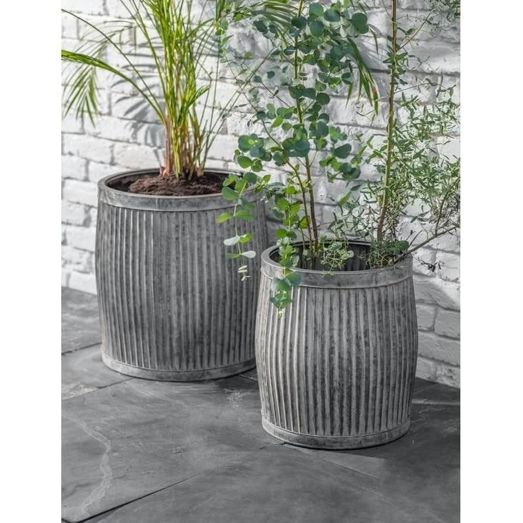 Steel Garden Planters - Set of 2