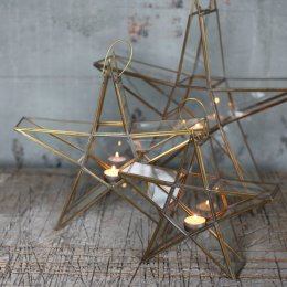 Star Tealight Holder - Brass SAVE 40%