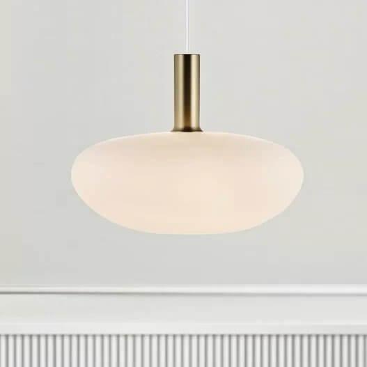Opal Glass Pendant Light - Oval