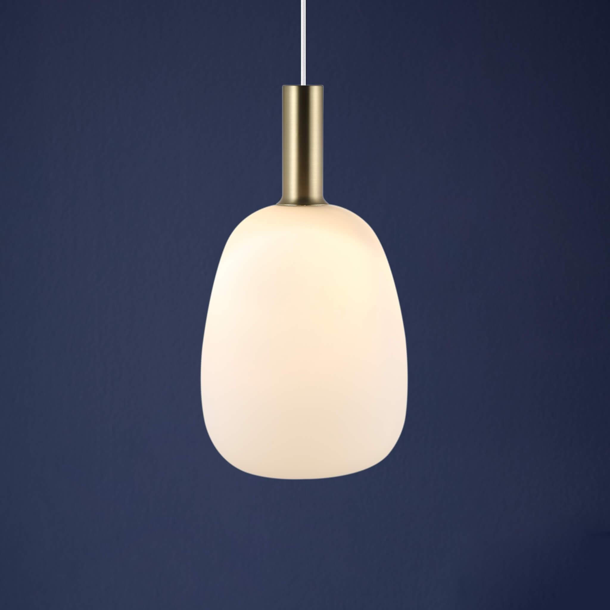 Opal Glass Pendant Light (Bell)