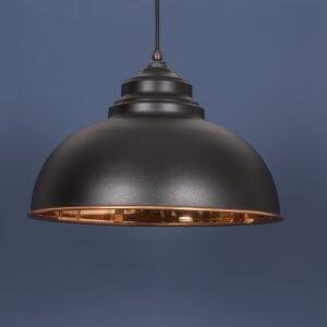 The Harborne Pendant - Matt Black/Copper