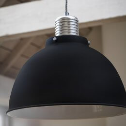 The Loft Pendant Light - Off Black (Large) save 15%
