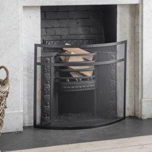 Heanton Firescreen - Black