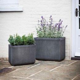 Fibre Clay Rectangular Planter - Set of 2