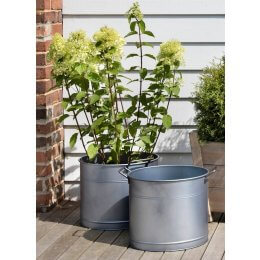 Galvanised Buckets - Set of 2