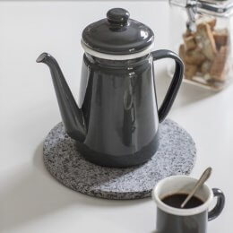 Enamel Coffee Pot in Charcoal