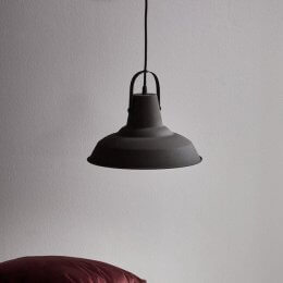 Archie Pendant Light - Black/ Brown
