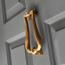 Art Deco Door Knocker - Aged Brass