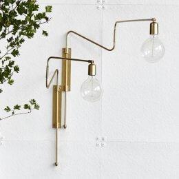 Brass Swing Wall Light - save 40%