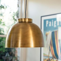 Brass Bowl Pendant Light