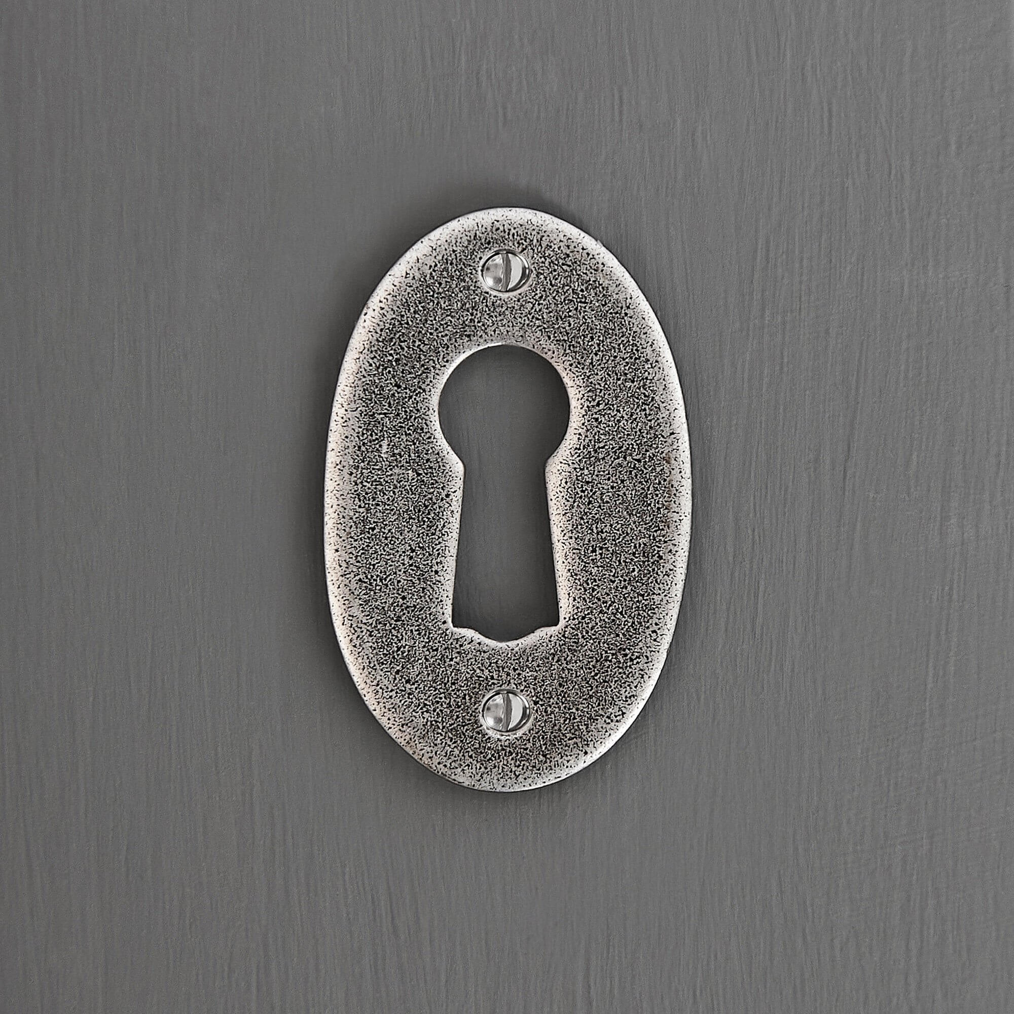 Oval Forged Escutcheon - Pewter SAVE 99%!
