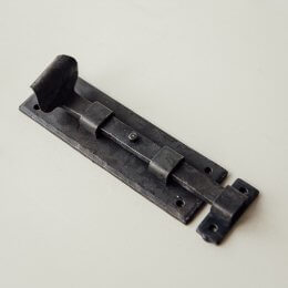 Forged Dartington Door and Cupboard Bolt - Black Waxed
