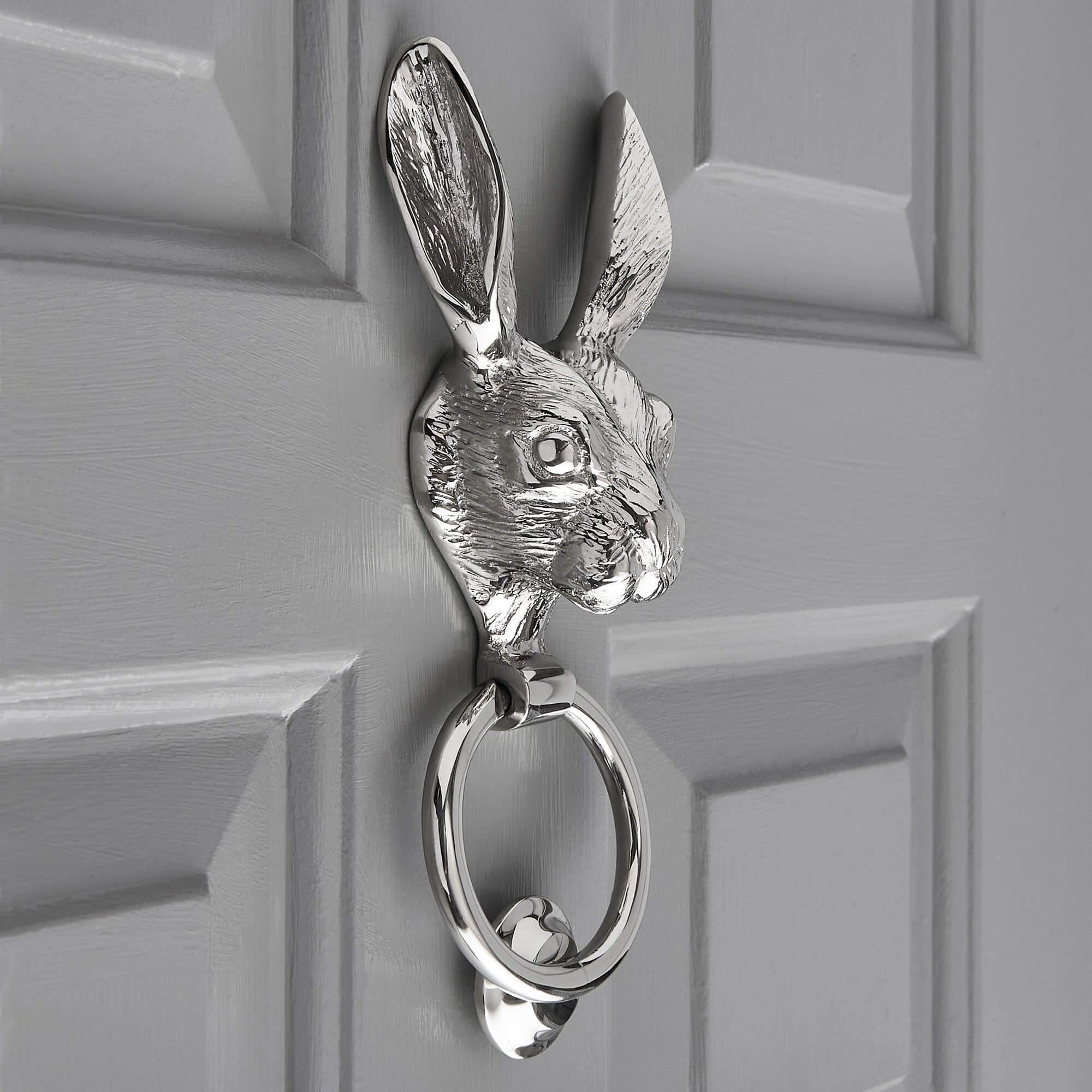 Hare Door Knocker - Nickel