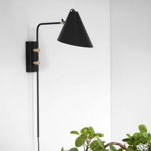 Black & Brass Angle Wall Light - 20%