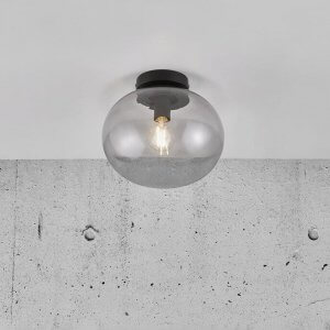 Blown Smoked Glass Ceiling Light