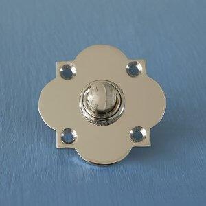 Quatrefoil Bell Push - Polished Nickel