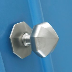 Pointed Octagonal Door Pull- Satin Nickel