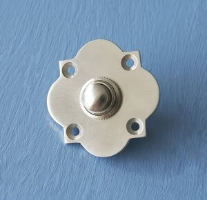 Quatrefoil Bell Push - Satin Nickel