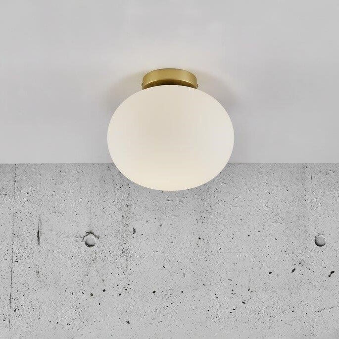 Opal Glass & Brass Ceiling Light
