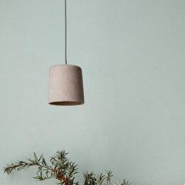 Concrete Pendant Light - Blush SAVE 30%