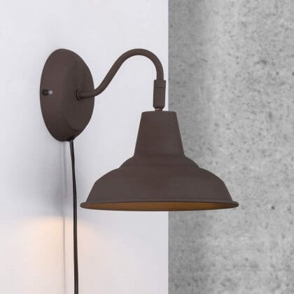 Archie Wall Light - Black/ Brown