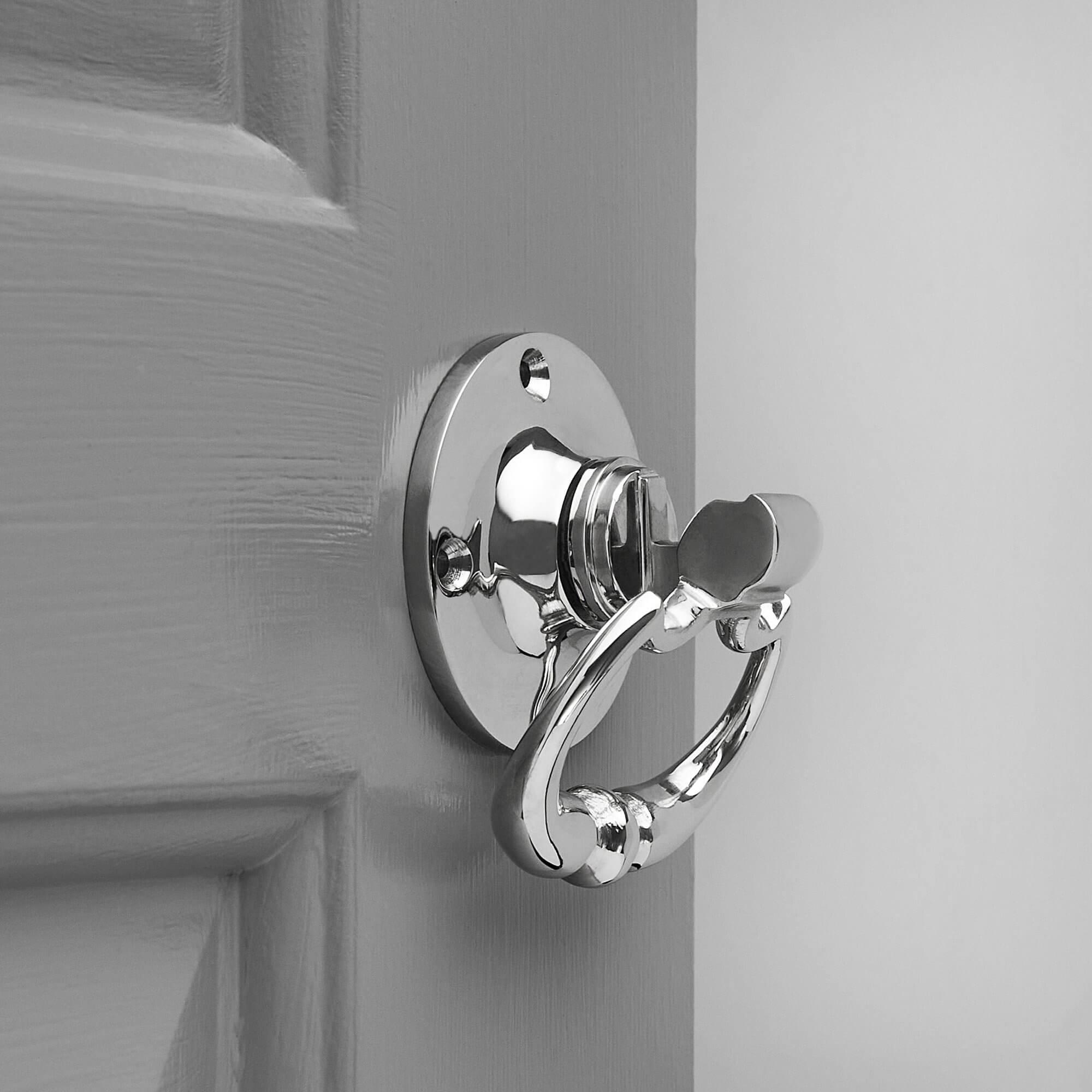 Dutch Drop Ring Door Handles (Pair) - Nickel