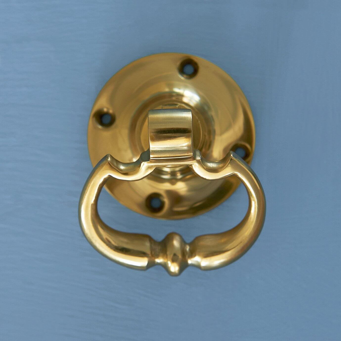 Dutch Drop Ring Door Handles - Brass