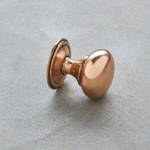 Cottage Cabinet Knob - Polished Bronze