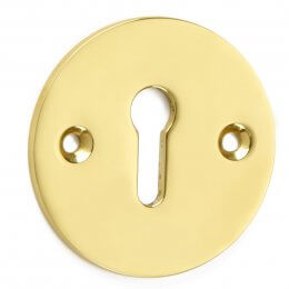Round Plain Escutcheon - Brass