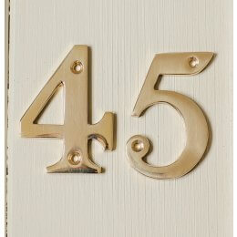 House Number '5'  - Brass