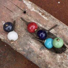 Ceramic Kitu Cabinet Knobs